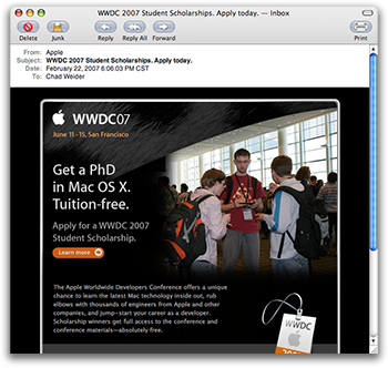 Picture of me in WWDC mailing