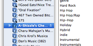 An unorganized iTunes library